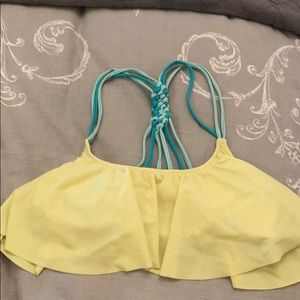 Victoria Secret Yellow with Blue Bikini Top